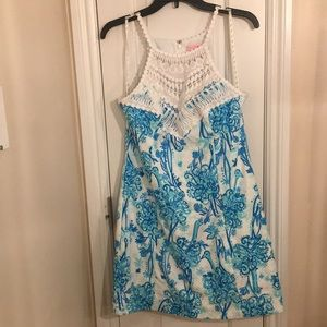 Lilly Pulitzer Pearl Lace Shift Ostrich Back it Up
